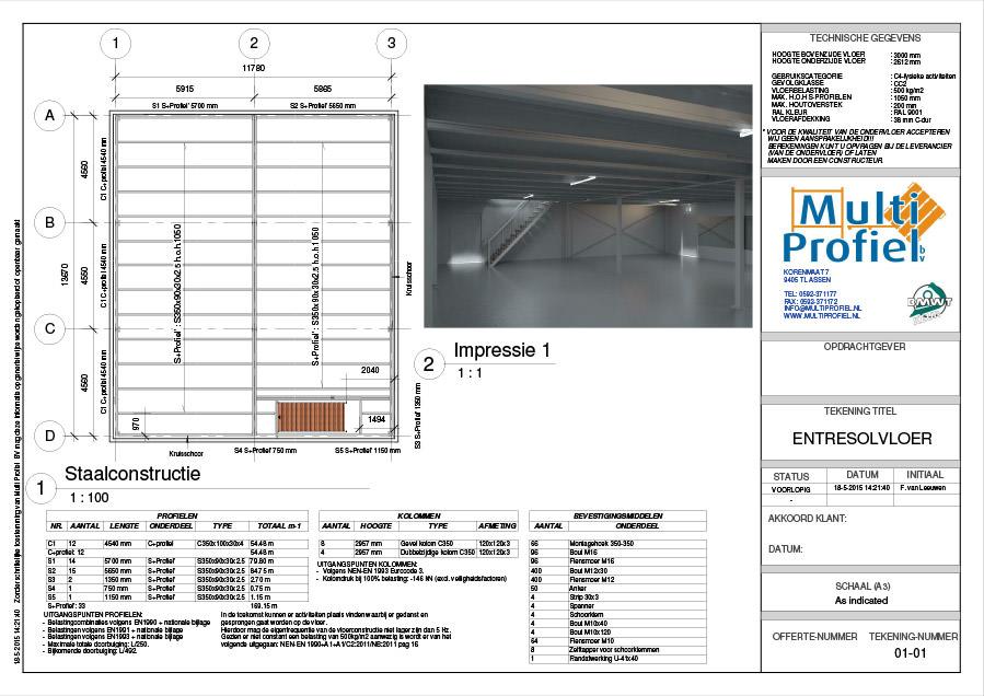 3d visualisaties van entresolvloeren multiprofiel b v for Tekenprogramma bouw
