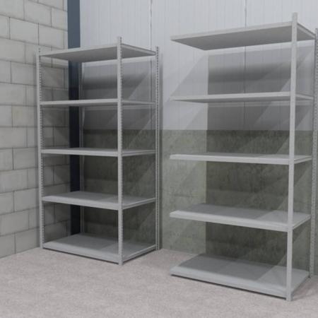 Verzinkte legbordstelling 2.500 mm hoog 300 mm diep (sectiebreedte 1.000 mm)-0