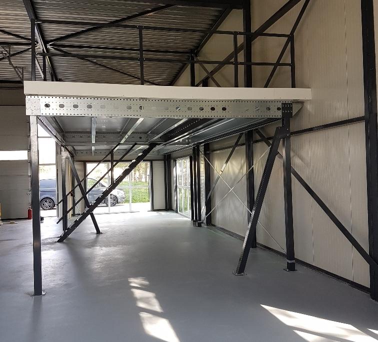 Verdiepingsvloer bij HT autobedrijf