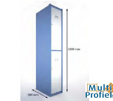 Garderobekast 2 deurs 1.800 mm x 504 mm x 400 mm-0