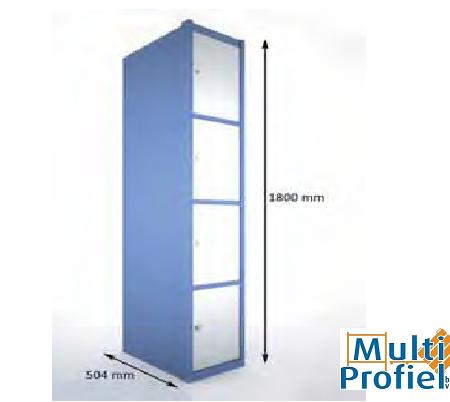 Garderobekast 4 deurs 1.800 mm x 504 mm x 300 mm-0