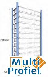 Ladenkast 2.000x900x400 mm beginsectie-0